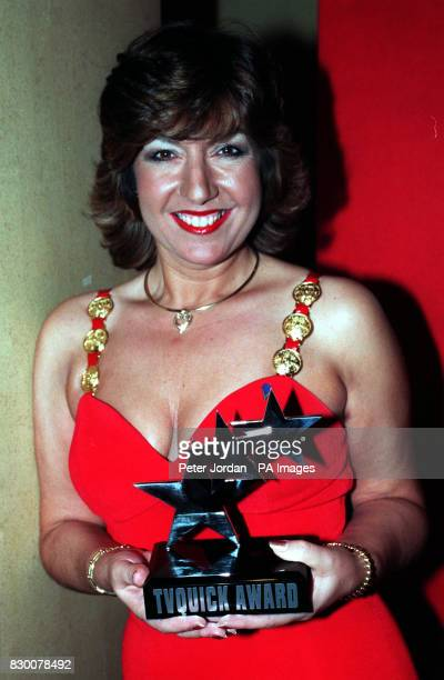 Jane McDonald who shot to fame as star of the BBC flyonthewall documentary 'the Cruise' at the TV Quick Awards which took place at the Grosvenor...
