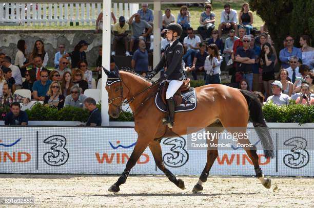 Jane of Switzerland riding IZMIR VAN DE BAEYENNE during the Piazza di Siena Bank Intesa Sanpaolo in the Villa Borghese on May 27 2017 in Rome Italy