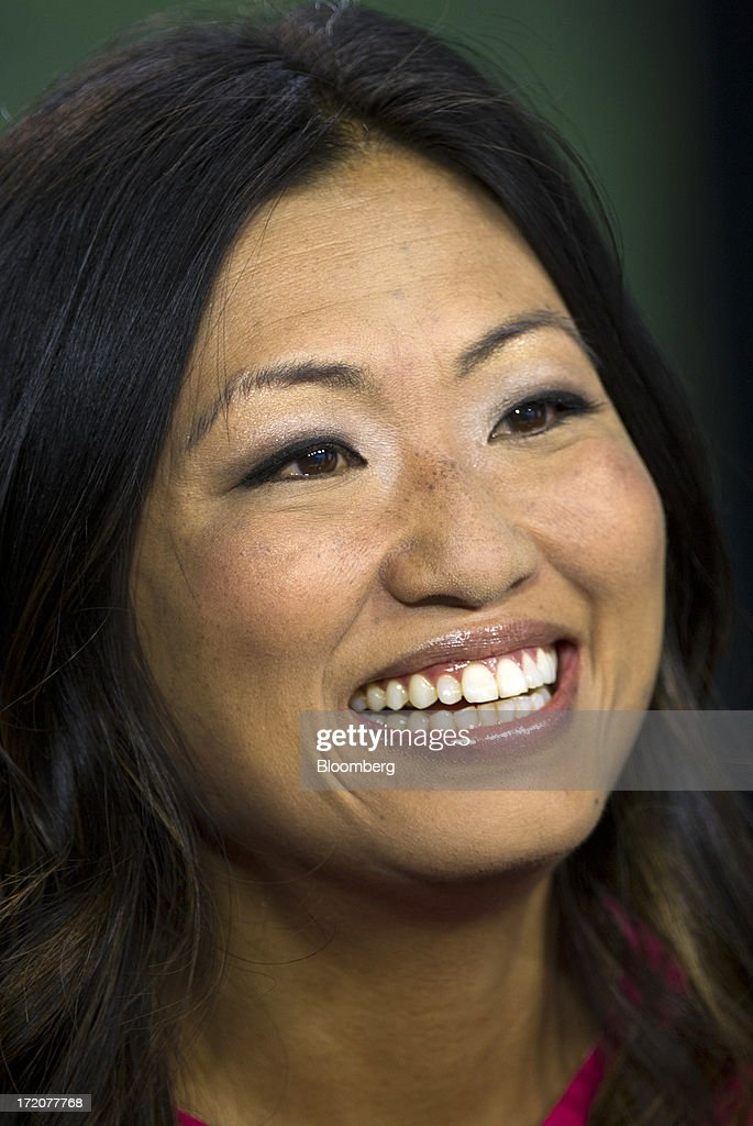 Jane Park, founder and chief executive officer of Julep Beauty Inc., smiles during a Bloomberg West Television interview in San Francisco, California, U.S., on Monday, July 1, 2013. Julep Beauty Inc. retails and offers beauty products such as hand, nail, foot care, cosmetics, perfume and body products. Photographer: David Paul Morris/Bloomberg via Getty Images