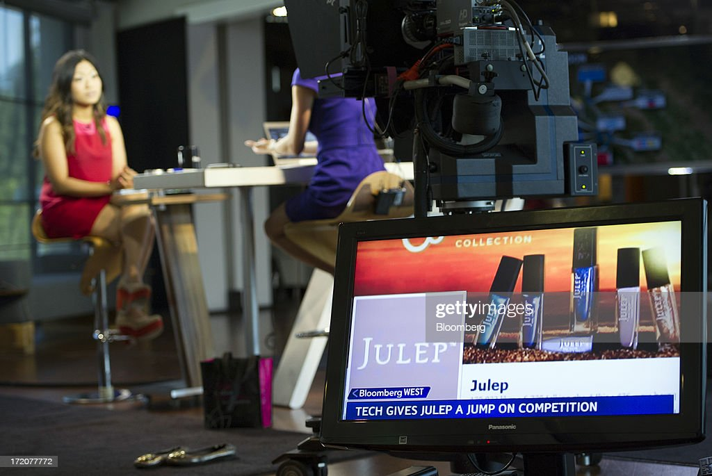 Jane Park, founder and chief executive officer of Julep Beauty Inc., speaks during a Bloomberg West Television interview in San Francisco, California, U.S., on Monday, July 1, 2013. Julep Beauty Inc. retails and offers beauty products such as hand, nail, foot care, cosmetics, perfume and body products. Photographer: David Paul Morris/Bloomberg via Getty Images