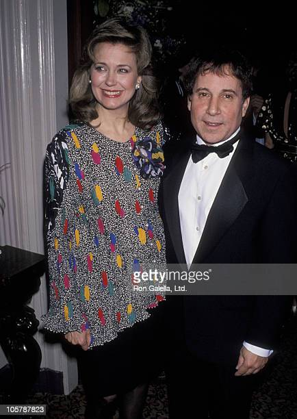 Jane Pauley and Paul Simon during Children's Health Fund Benefit at the 21 Club May 23 1990 at 21 Club in New York City New York United States