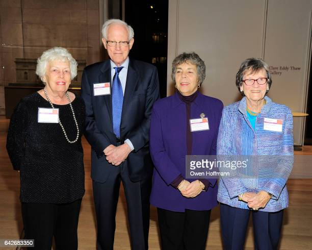 Jane Pearsall Henry Schacht Marea Wexler and Nancy Schacht attend Women for the World The Campaign for Smith College at The Morgan Library Museum on...