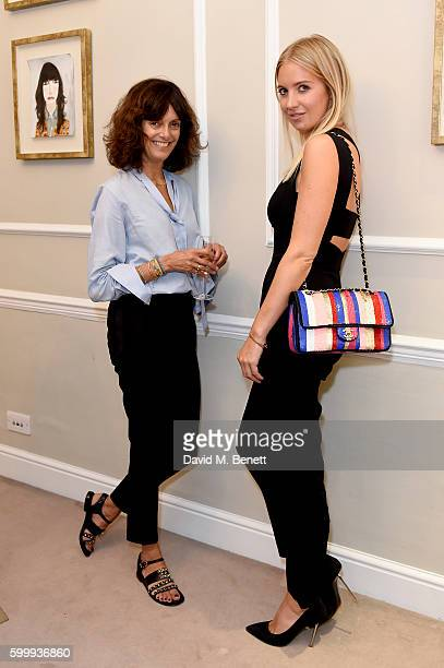 Jane Pickering and Marissa Montgomery attends a cocktail reception hosted by RACIL and MATCHESFASHIONCOM to celebrate the launch of Racil AW16...