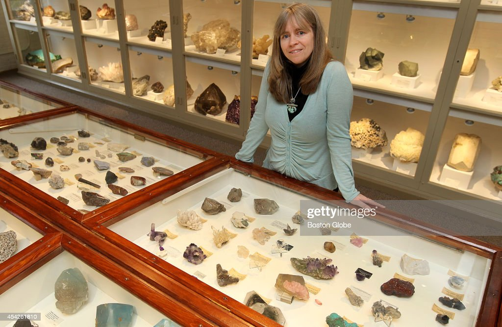 Jane Pickering, executive director of the Harvard Museums of Science and Culture, with minerals, on Tuesday, March 19, 2013.