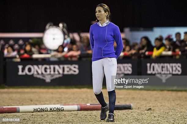 Jane Richard Philips of Switzerland attends Hong Kong Jockey Master Class held by Jane Richards Philipps during the Longines Hong Kong Masters on 14...