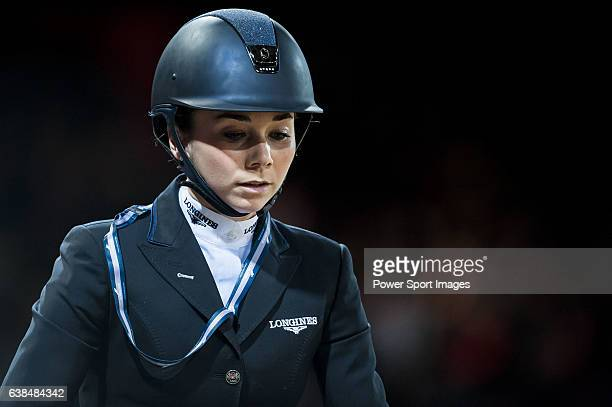 Jane Richard Philips of Switzerland riding Pablo de Virton competes at the HKJC Trophy during the Longines Hong Kong Masters 2015 at the AsiaWorld...