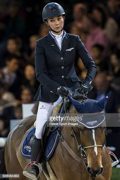 Jane Richard Philips of Switzerland riding Pablo de Virton in action during the Laiterie De Montaigu Trophy as part of the Longines Hong Kong Masters...