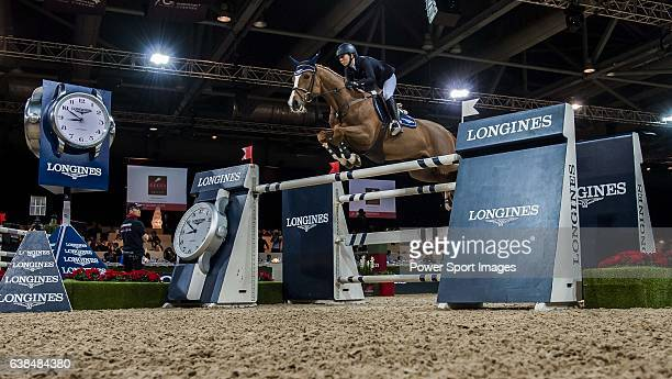 Jane Richard Philips of Switzerland riding Zekina in action at the Gucci Gold Cup during the Longines Hong Kong Masters 2015 at the AsiaWorld Expo on...