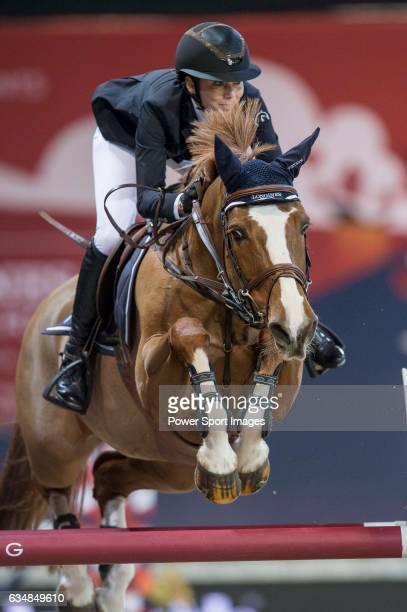 Jane Richard Philips of Switzerland riding Zekina Z competes during the Hong Kong Tatler Trophy part of the Longines Masters of Hong Kong on 12...