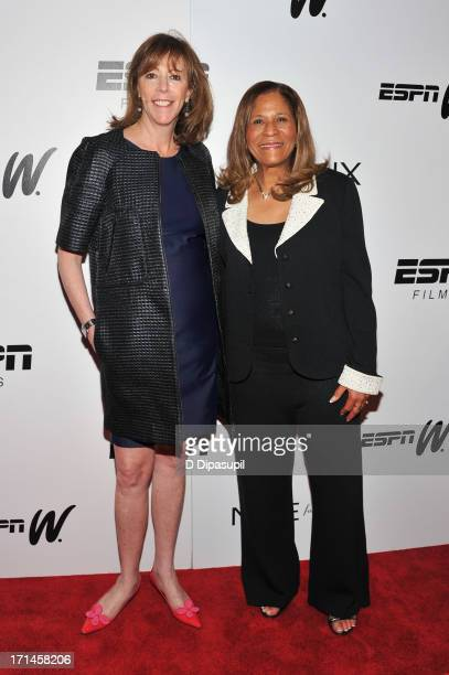 Jane Rosenthal and C Vivian Stringer attend the 'Venus Vs' and 'Coach' screenings at the Paley Center For Media on June 24 2013 in New York City