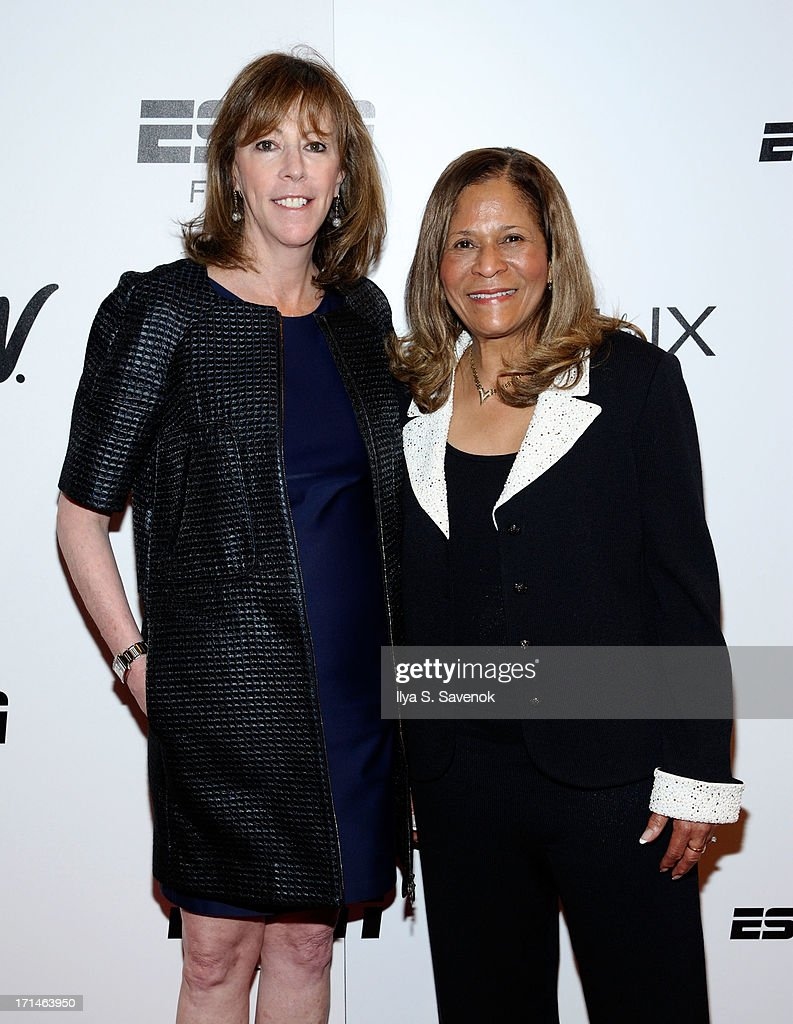 Jane Rosenthal (L) and C. Vivian Stringer attend 'Venus Vs.' and 'Coach' New York Special Screenings at Paley Center For Media on June 24, 2013 in New York City.