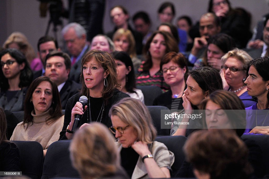 Jane Rosenthal and Katie Holmes attend Time Warner's Conversations on the Circle: A Conversation With Sheryl Sandberg, Chief Operating Officer, Facebook And Moderated By Nancy Gibbs, Deputy Managing Editor, TIME on March 11, 2013 in New York City.