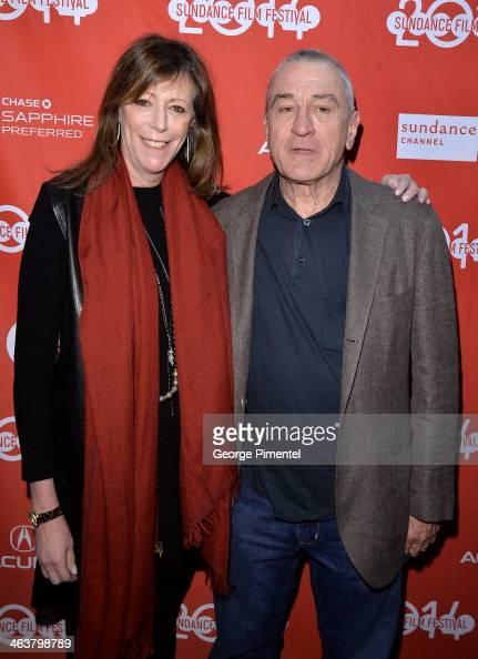 Jane Rosenthal and Robert De Niro attend Documentary Shorts Program II at Yarrow Hotel Theater during the 2014 Sundance Film Festival on January 19...