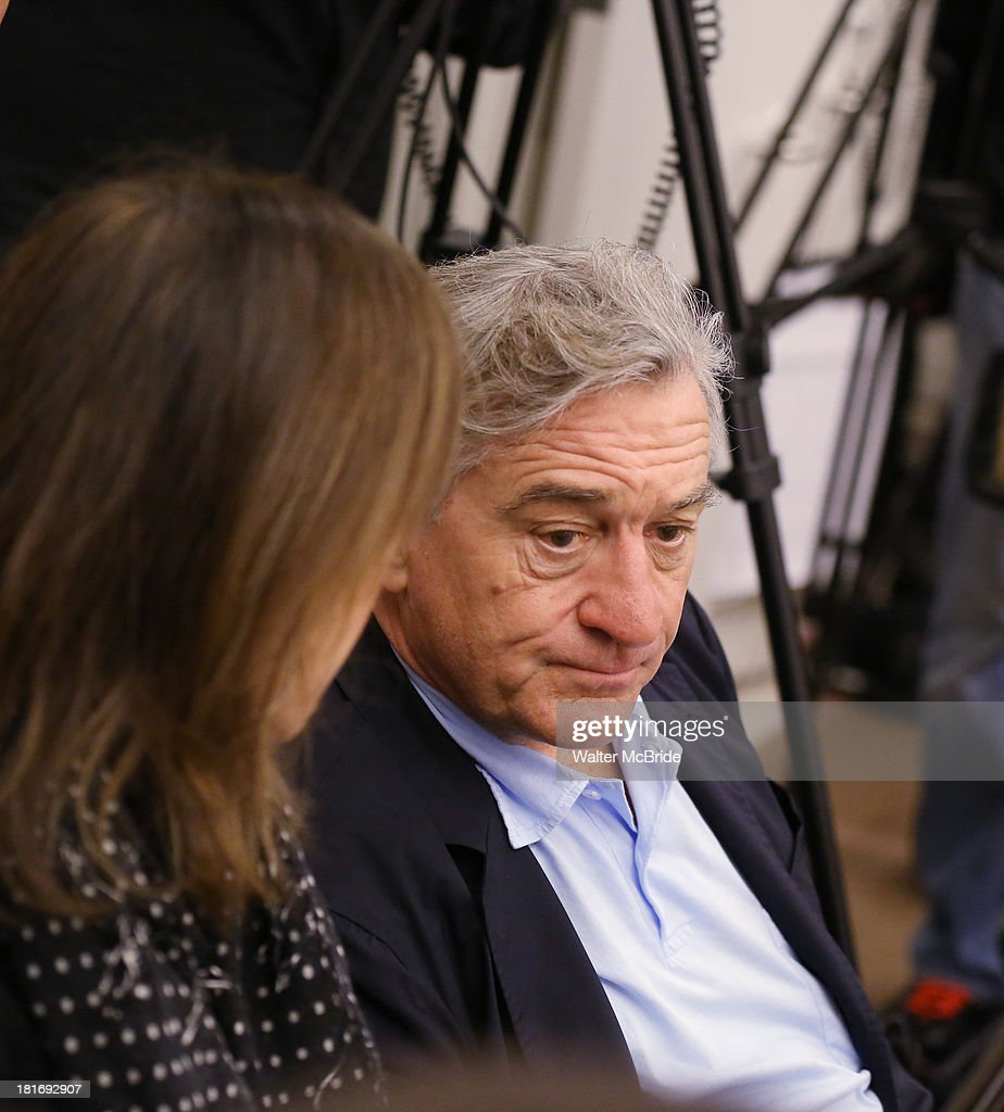 Jane Rosenthal and Robert De Niro attend the 'We Will Rock You' North America Tour Rehearsals at The New 42nd Street Studios on September 23, 2013 in New York City.