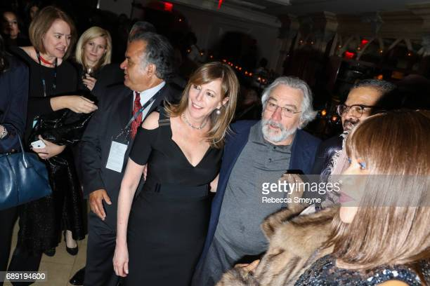 Jane Rosenthal and Robert DeNiro attend the afterparty for the opening night of the 2017 Tribeca Film Festival World Premiere of 'Clive Davis The...