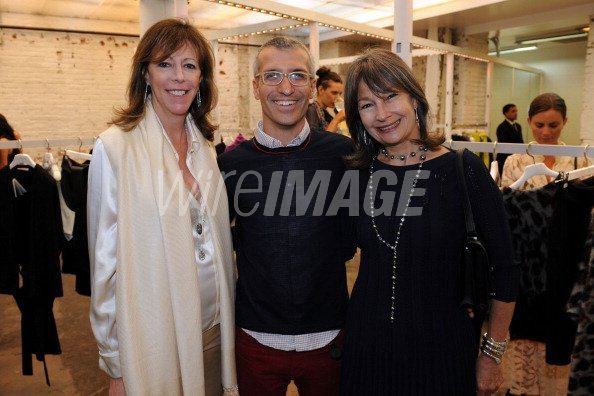 Jane Rosenthal Belenciaga CEO Luca Voarino and Brooke Neidich attend