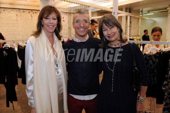 Jane Rosenthal Belenciaga CEO Luca Voarino and Brooke Neidich attend