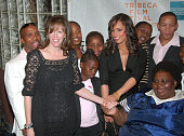Jane Rosenthal CoFounder Tribeca Film Festival Alicia Keys and 'Grandma' Zodwa Mqadi Agape Orphanage Founder with Children of the Agape Orhanage
