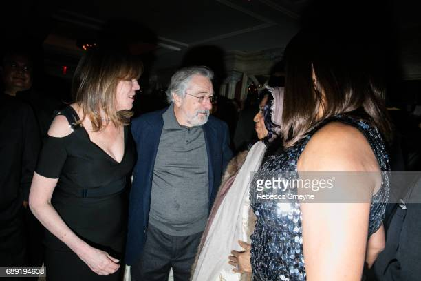 Jane Rosenthal Robert DeNiro Aretha Franklin and Grace Hightower attend the afterparty for the opening night of the 2017 Tribeca Film Festival World...