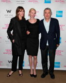 Jane Rosenthal writer/director Feo Aladag and Robert De Niro attend Awards Night during the 9th Annual Tribeca Film Festival at the W New York Union...