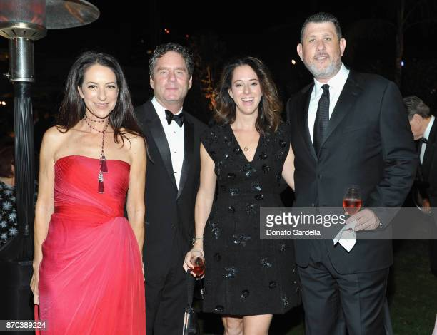 Jane Ross James Yaffe Matthew Karatz and Lindsey Karatz attend the 2017 LACMA Art Film Gala Honoring Mark Bradford and George Lucas presented by...