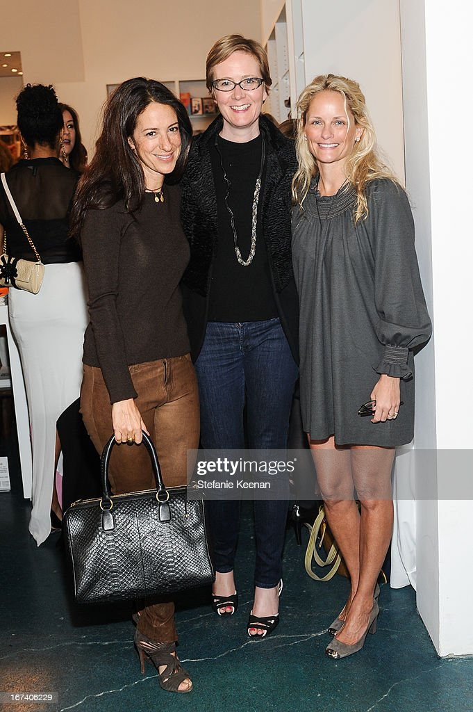 Jane Ross, Sara Fitzmaurice and Heather Mnuchin attend Director's Circle Celebrates Wear LACMA, Sponsored By NET-A-PORTER And W at LACMA on April 24, 2013 in Los Angeles, California.
