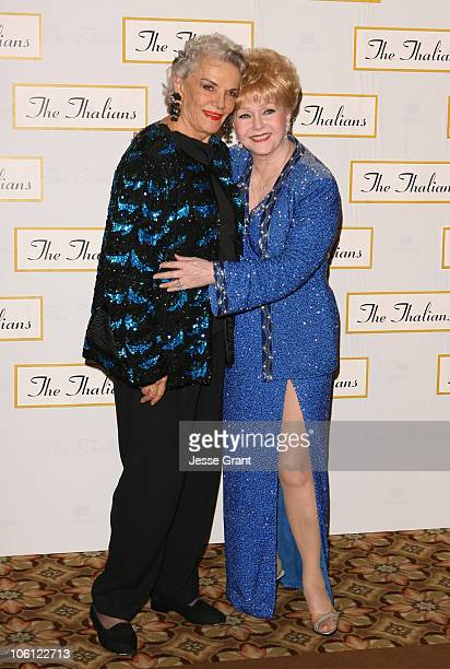 Jane Russell and Debbie Reynolds during 51st Annual Thalians Ball Arrivals at Hyatt Regency Century Plaza in Century City California United States