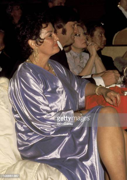 Jane Russell during A Special Tribute to Howard Hughes Gala February 19 1977 at Century Plaza Hotel in Los Angeles California United States