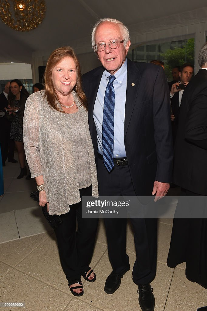 Jane Sanders and Senator Bernie Sanders attend the Atlantic Media's 2016 White House Correspondents' Association Pre-Dinner Reception at Washington Hilton on April 30, 2016 in Washington, DC.