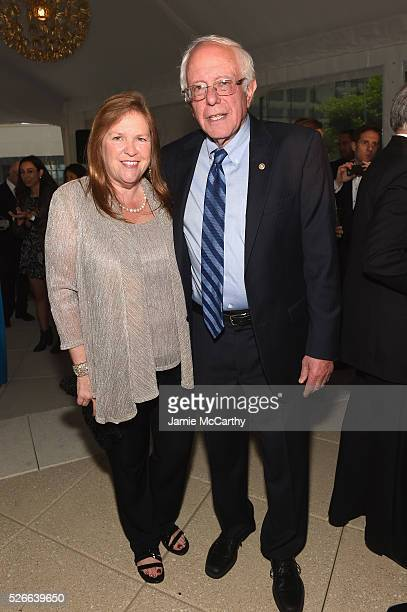 Jane Sanders and Senator Bernie Sanders attend the Atlantic Media's 2016 White House Correspondents' Association PreDinner Reception at Washington...