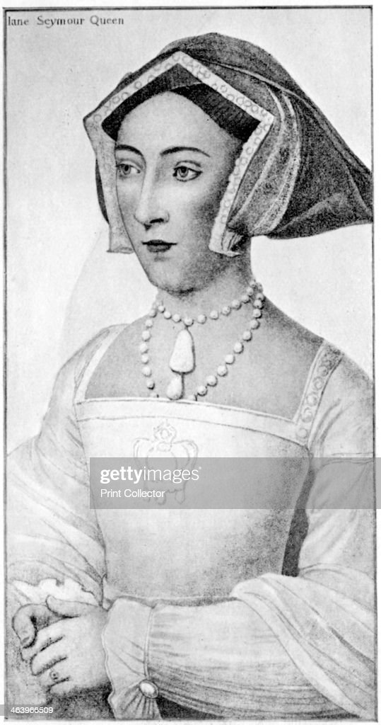 Jane Seymour 16th century Portrait after Holbein of Henry VIII's third wife wearing the Transition style of headdress a combination of the coif and...