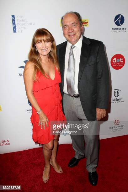 Jane Seymour and Johnny Bench at the 17th Annual Harold Carole Pump Foundation Gala at The Beverly Hilton Hotel on August 11 2017 in Beverly Hills...