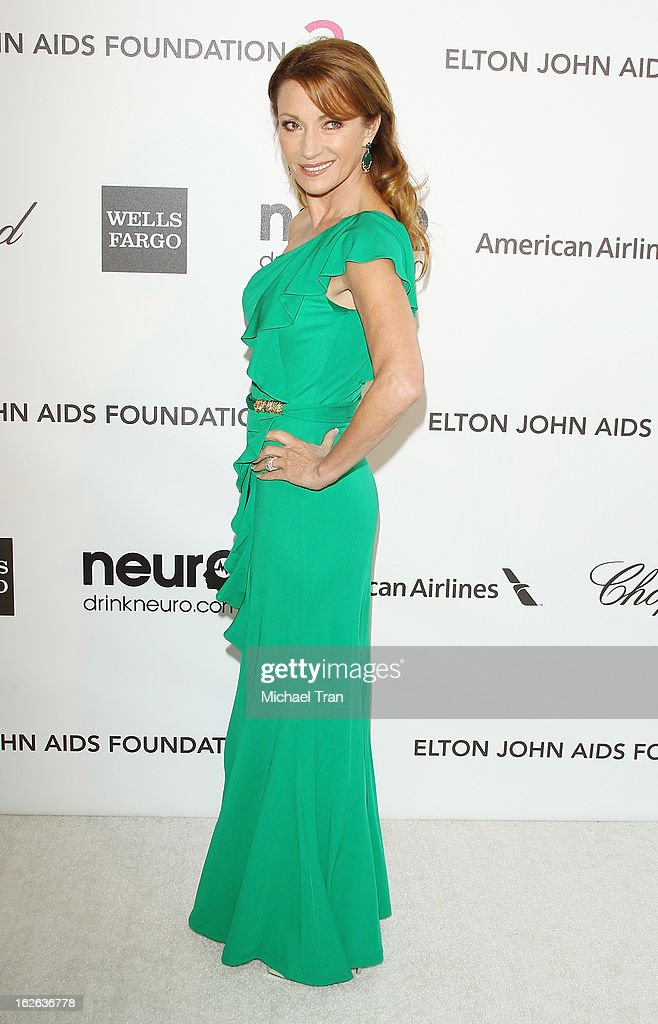 Jane Seymour arrives at the 21st Annual Elton John AIDS Foundation Academy Awards viewing party held at West Hollywood Park on February 24, 2013 in West Hollywood, California.