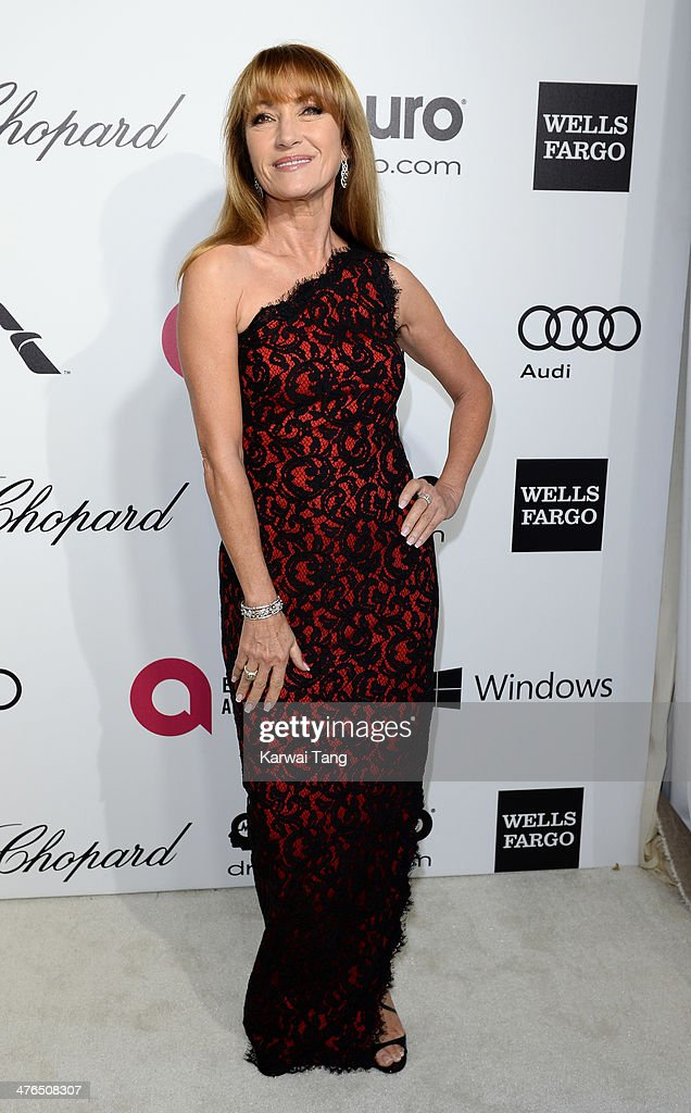Jane Seymour arrives for the 22nd Annual Elton John AIDS Foundation's Oscar Viewing Party held at West Hollywood Park on March 2, 2014 in West Hollywood, California.