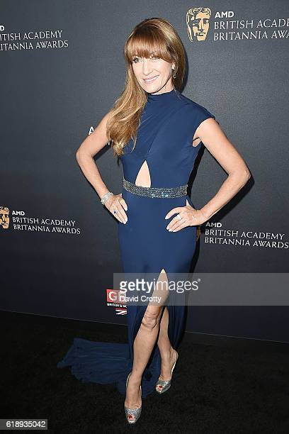 Jane Seymour attends the 2016 AMD British Academy Britannia Awards Presented by Jaguar Land Rover and American Airlines at The Beverly Hilton Hotel...