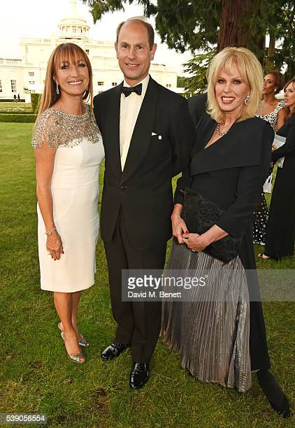 Jane Seymour Prince Edward Earl of Wessex and Joanna Lumley attend the Duke of Edinburgh Award 60th Anniversary Diamonds are Forever Gala at Stoke...