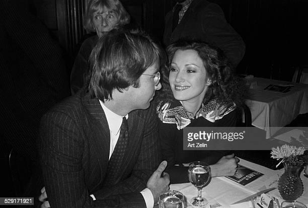 Jane Seymour with her husband David Flynn at a dinner circa 1970 New York