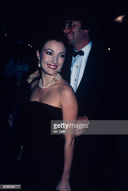 Jane Seymour with her husband David Flynn at a formal event circa 1970 New York