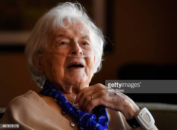 Jane Tedeschi at the Brookdale Park Place senior housing community May 24 2017 in Denver Colorado Tedeschi flew military aircraft during WWII with...