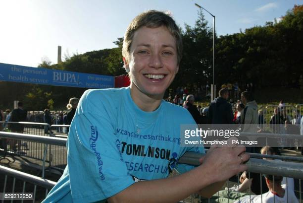 Jane Tomlinson from Rothwell in Leeds who has been diagnosed with terminal cancer prepares to take part in the Bupa Great North Run in Newcastle Jane...