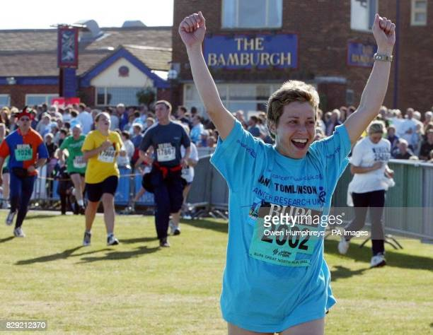 Jane Tomlinson from Rothwell in Leeds who has been diagnosed with terminal cancer finishes the Bupa Great North Run in Newcastle Jane has already...