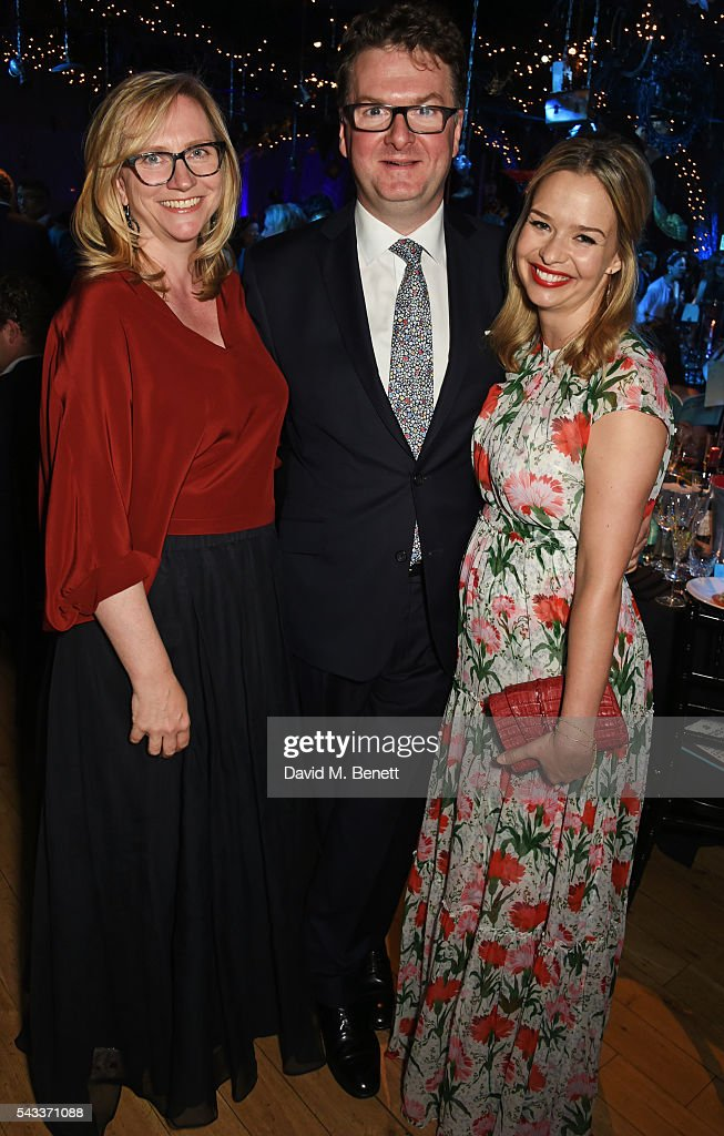 Kate Hobhouse, <a gi-track='captionPersonalityLinkClicked' href=/galleries/search?phrase=Ewan+Venters&family=editorial&specificpeople=7768430 ng-click='$event.stopPropagation()'>Ewan Venters</a> and Marissa Hermer attend the Summer Gala for The Old Vic at The Brewery on June 27, 2016 in London, England.