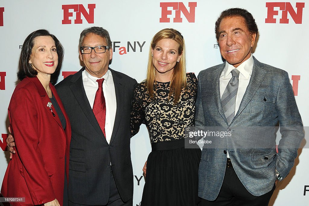 Jane Weitzman, Stuart Weitzman, Andrea Hissom and <a gi-track='captionPersonalityLinkClicked' href=/galleries/search?phrase=Steve+Wynn&family=editorial&specificpeople=696427 ng-click='$event.stopPropagation()'>Steve Wynn</a> attend 2012 Footwear News Achievement Awards at MOMA on November 27, 2012 in New York City.