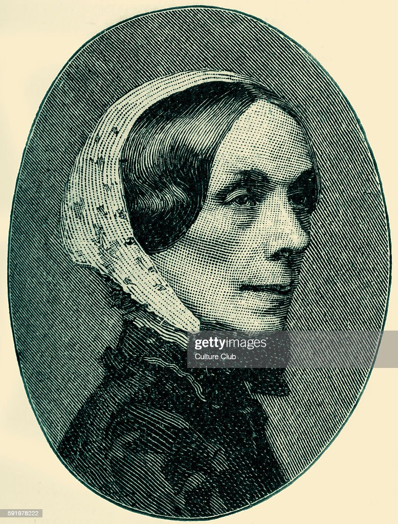 Jane Welsh Carlyle / Jane Baillie Welsh Esteemed letterwriter and wife to Scottish essayist Thomas Carlyle llustration after a photograph by Fry and...