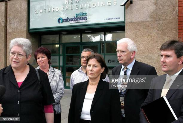 Jane Winter British/Irish Rights Watch Elizabeth Ferguson John Torney's sister John Torney's sisterinlaw Hilary front centre SDLP's Tim Attwood...