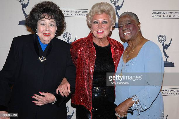 Jane Withers Mitzi Gaynor and Linda Hopkins pose for a picture at the premiere of 'Mitzi Gaynor Razzle Dazzle The Special Years' at the Leonard H...