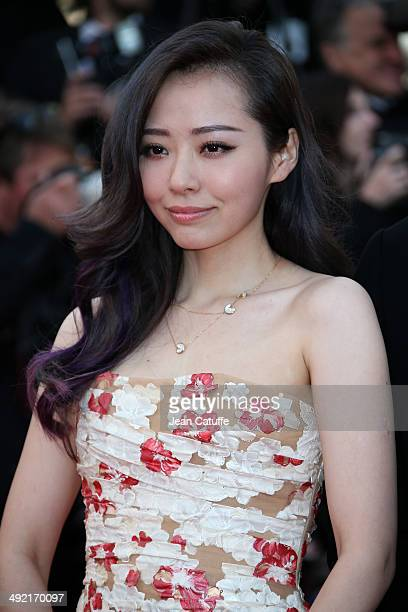 Jane Zhang attends 'The Homesman' premiere during the 67th Annual Cannes Film Festival on May 18 2014 in Cannes France