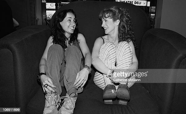 Janeane Garofalo and Kathy Griffin pose for a photo in July 1997 in New York City New York