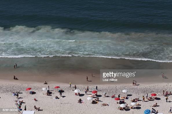 Crowds gather to swim and sunbathe on Copacabana beach in Rio de Janeiro Brazil on July 12 2010 Photo by Lisa Wiltse