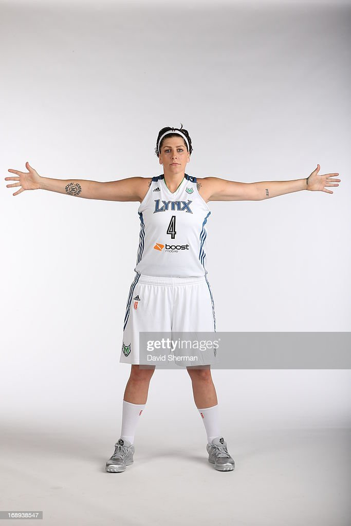 Janel McCarville #4 of the Minnesota Lynx poses for portraits during 2013 Media Day on May 16, 2013 at the Minnesota Timberwolves and Lynx LifeTime Fitness Training Center at Target Center in Minneapolis, Minnesota.